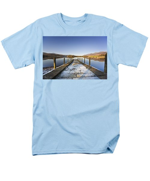 Dock In A Lake, Cumbria, England Men's T-Shirt  (Regular Fit) by John Short