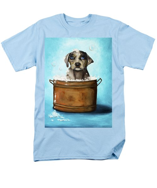 Dog N Suds Men's T-Shirt  (Regular Fit) by Leah Saulnier The Painting Maniac