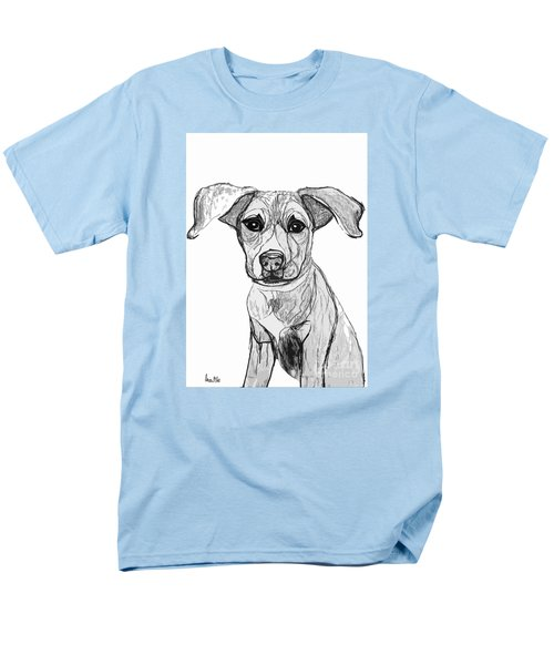 Dog Sketch In Charcoal 7 Men's T-Shirt  (Regular Fit) by Ania M Milo
