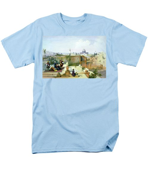 Dome Of The Rock In The Background Men's T-Shirt  (Regular Fit) by Munir Alawi
