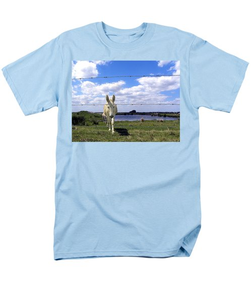 Men's T-Shirt  (Regular Fit) featuring the photograph Don't Fence Me In 002 by Chris Mercer