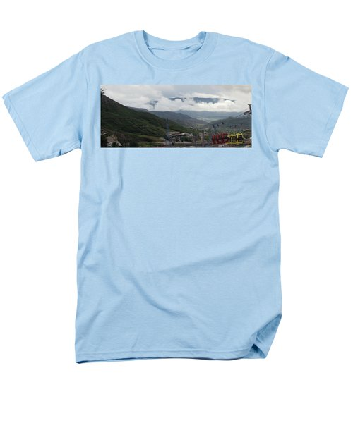 Down The Valley At Snowmass #3 Men's T-Shirt  (Regular Fit) by Jerry Battle