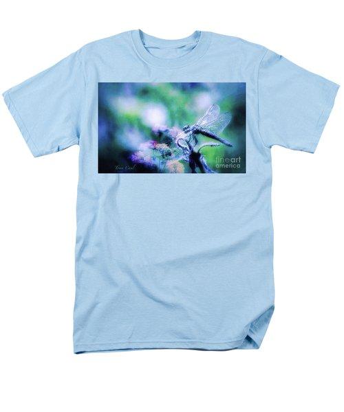 Dragonfly On Lantana-blue Men's T-Shirt  (Regular Fit) by Toma Caul
