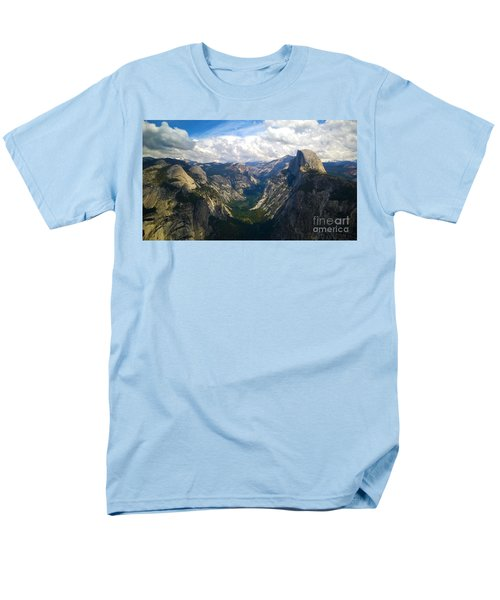 Dramatic Yosemite Half Dome Men's T-Shirt  (Regular Fit) by Debra Thompson