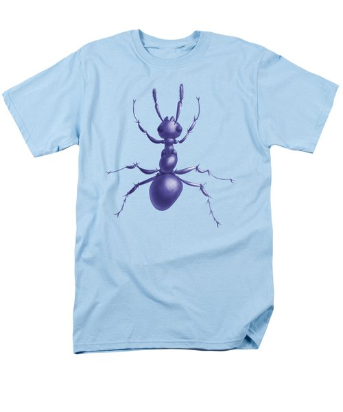 Drawn Purple Ant Men's T-Shirt  (Regular Fit) by Boriana Giormova