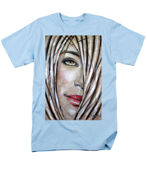 Men's T-Shirt  (Regular Fit) featuring the painting Dream In Amber 120809 by Selena Boron