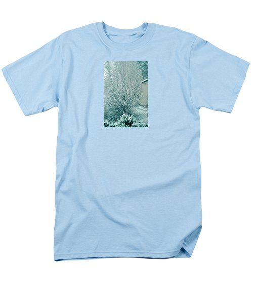Men's T-Shirt  (Regular Fit) featuring the photograph Dreaming Of A White Christmas - Winter In Switzerland by Susanne Van Hulst
