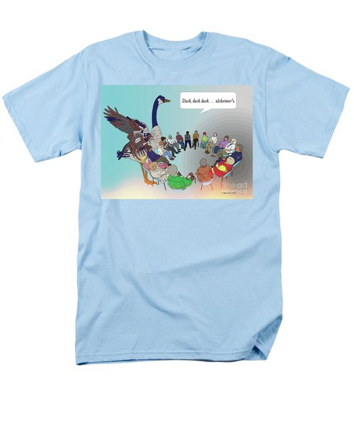 Duck, Duck, Alzheimers Men's T-Shirt  (Regular Fit) by Megan Dirsa-DuBois