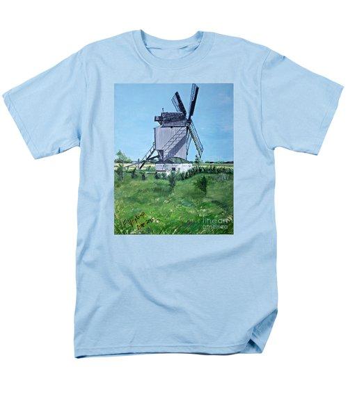 Dunkerque Windmill North Of France Men's T-Shirt  (Regular Fit) by Francine Heykoop