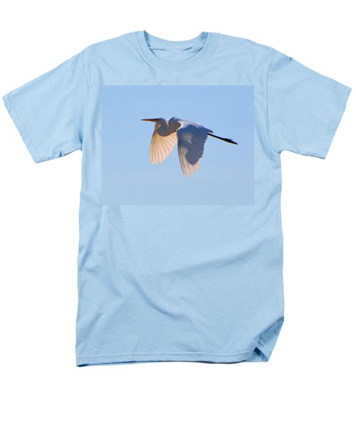 Egret In Silhouette Men's T-Shirt  (Regular Fit) by Josephine Buschman