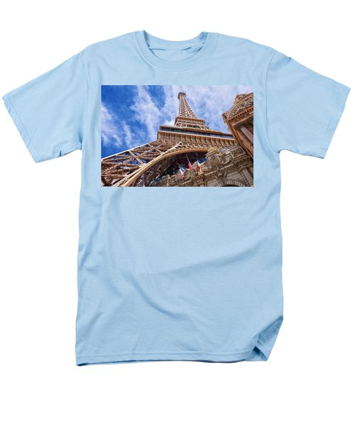 Men's T-Shirt  (Regular Fit) featuring the photograph Eiffel Tower Las Vegas  by Ricardo J Ruiz de Porras
