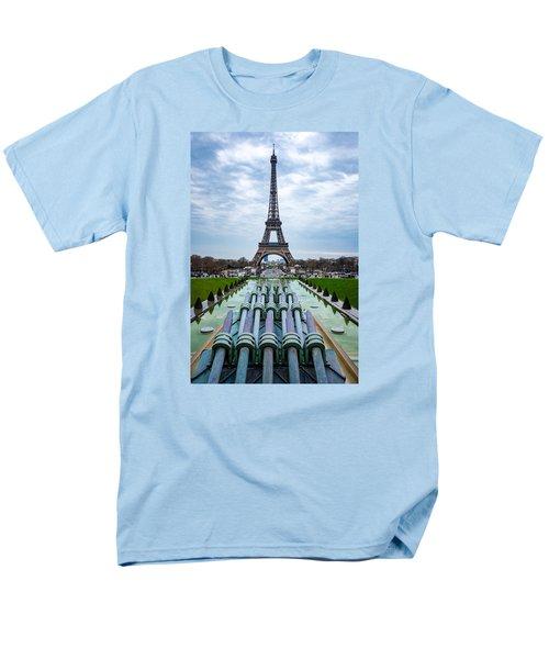 Eiffeltower From Trocadero Garden Men's T-Shirt  (Regular Fit) by Rainer Kersten