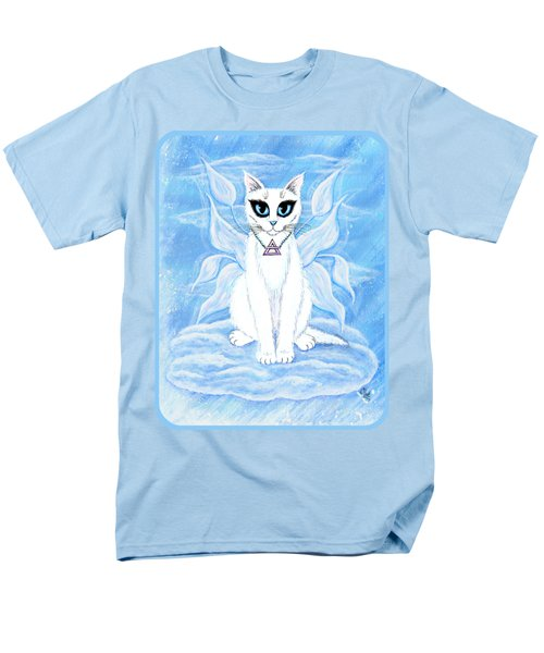 Men's T-Shirt  (Regular Fit) featuring the painting Elemental Air Fairy Cat by Carrie Hawks