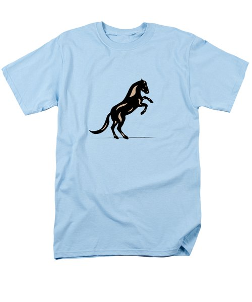Emma II - Pop Art Horse - Black, Hazelnut, Island Paradise Blue Men's T-Shirt  (Regular Fit) by Manuel Sueess
