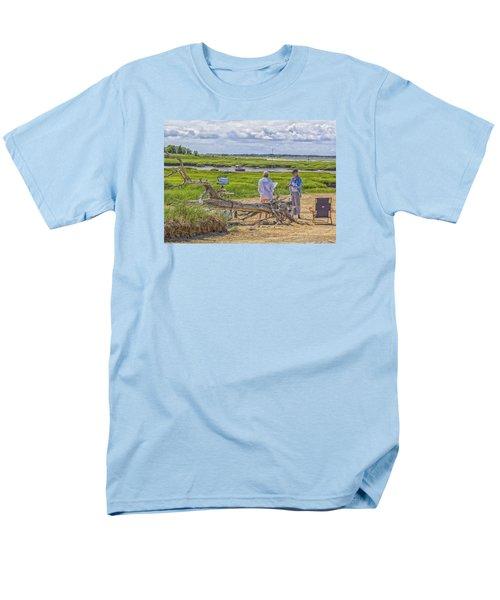 En Plein Air  Cape Cod Men's T-Shirt  (Regular Fit) by Constantine Gregory