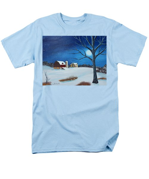Men's T-Shirt  (Regular Fit) featuring the painting Evening Chores by Jack G Brauer