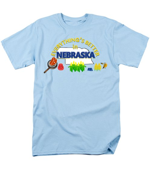 Everything's Better In Nebraska Men's T-Shirt  (Regular Fit) by Pharris Art