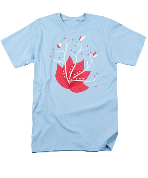 Exotic Pink Flower And Dots Men's T-Shirt  (Regular Fit)
