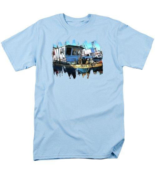 F/v Blue Scoop Men's T-Shirt  (Regular Fit)