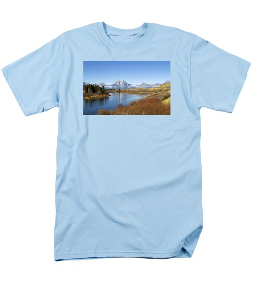Men's T-Shirt  (Regular Fit) featuring the photograph Fall At Teton -2 by Shirley Mitchell