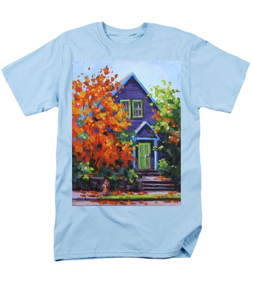 Fall In The Neighborhood Men's T-Shirt  (Regular Fit) by Karen Ilari