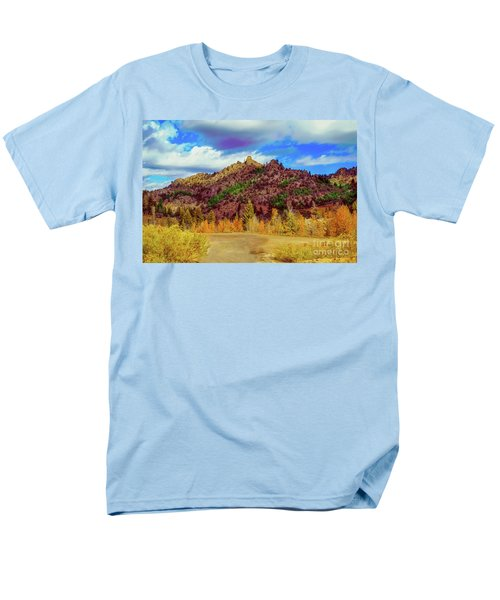 Fall In The Oregon Owyhee Canyonlands  Men's T-Shirt  (Regular Fit) by Robert Bales