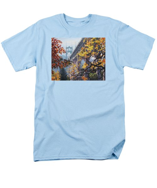 Men's T-Shirt  (Regular Fit) featuring the painting Fall St Johns by Karen Ilari