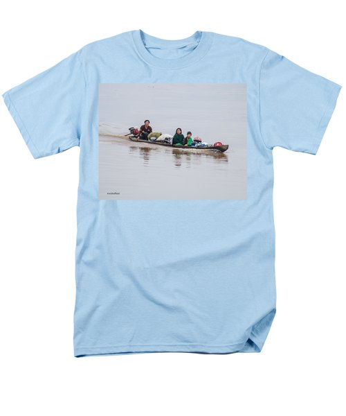 Family Boat On The Amazon Men's T-Shirt  (Regular Fit) by Allen Sheffield