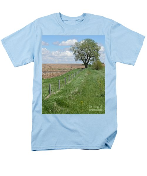 Fence Line Men's T-Shirt  (Regular Fit) by Renie Rutten