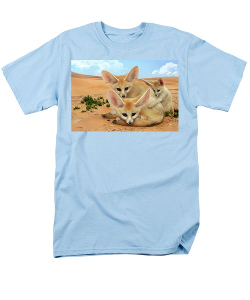 Men's T-Shirt  (Regular Fit) featuring the digital art Fennec Foxes by Thanh Thuy Nguyen