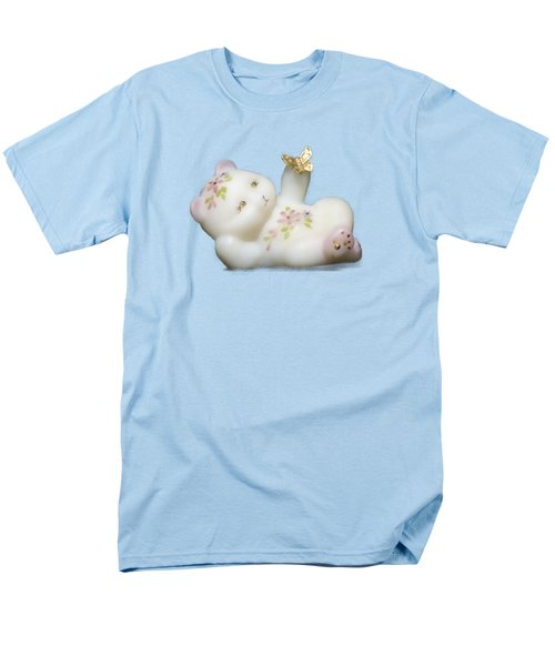 Men's T-Shirt  (Regular Fit) featuring the pyrography Fenton Bear Cutout by Linda Phelps