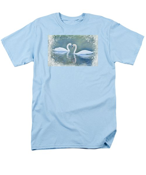 Festive Swan Love Men's T-Shirt  (Regular Fit) by Diane Alexander