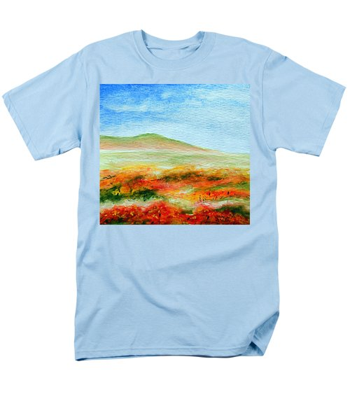 Men's T-Shirt  (Regular Fit) featuring the painting Field Of Poppies by Jamie Frier
