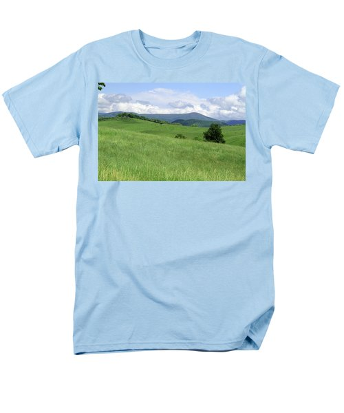 Men's T-Shirt  (Regular Fit) featuring the photograph Fields And Hills  by Emanuel Tanjala