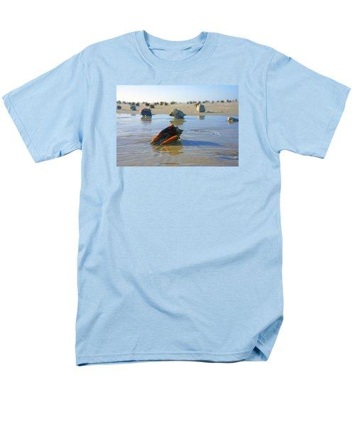 Fighting Conchs On The Sandbar Men's T-Shirt  (Regular Fit) by Robb Stan