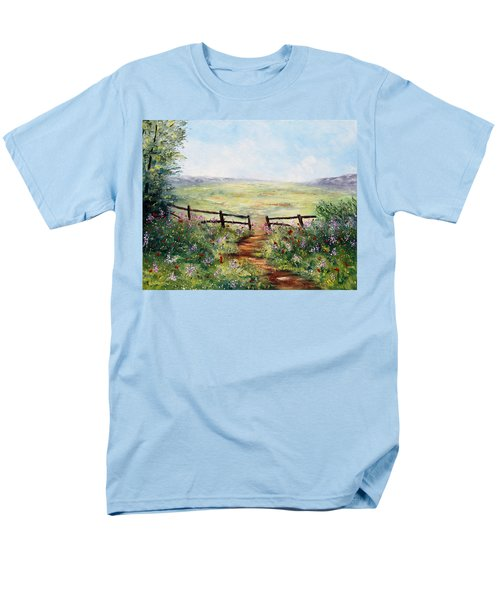 Finding Pasture Men's T-Shirt  (Regular Fit) by Meaghan Troup