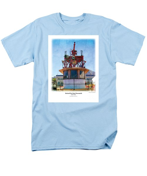 Men's T-Shirt  (Regular Fit) featuring the painting Fire Boat by Kenneth De Tore