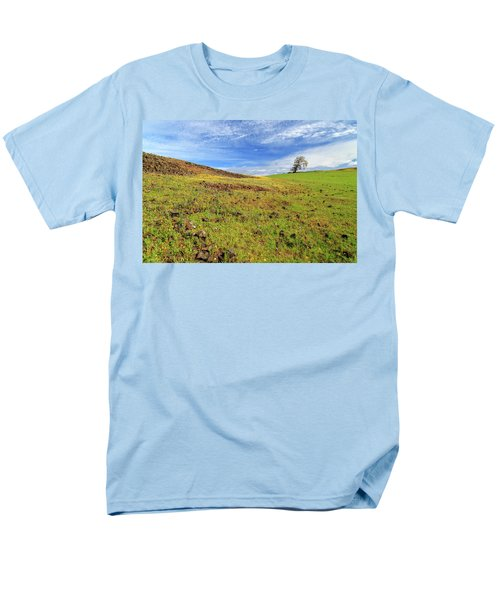 Men's T-Shirt  (Regular Fit) featuring the photograph First Flowers On North Table Mountain by James Eddy