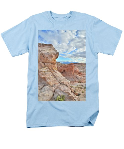 First Light On Valley Of Fire Men's T-Shirt  (Regular Fit) by Ray Mathis
