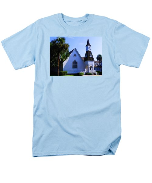 Men's T-Shirt  (Regular Fit) featuring the photograph First Presbyterian Church by Laura Ragland