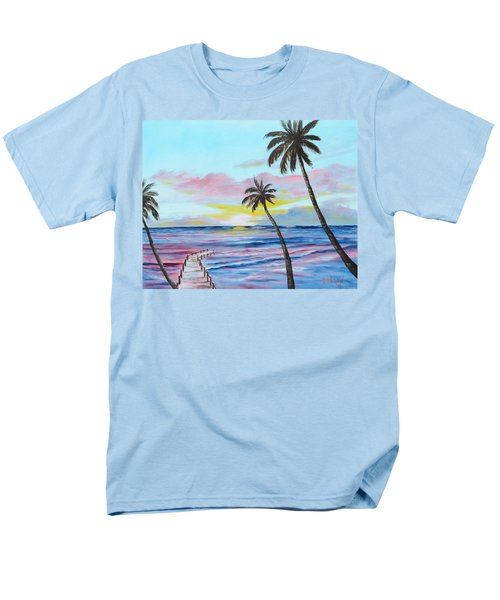 Fishing Pier Sunset Men's T-Shirt  (Regular Fit) by Lloyd Dobson