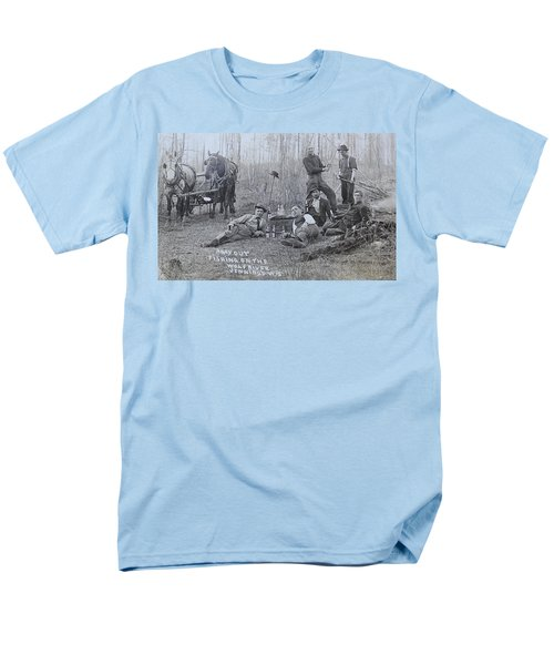 Men's T-Shirt  (Regular Fit) featuring the photograph Fishing With The Boys by Tammy Schneider