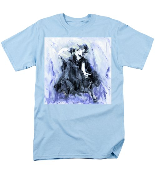 Men's T-Shirt  (Regular Fit) featuring the painting Flamenco Dancer Art 45h by Gull G