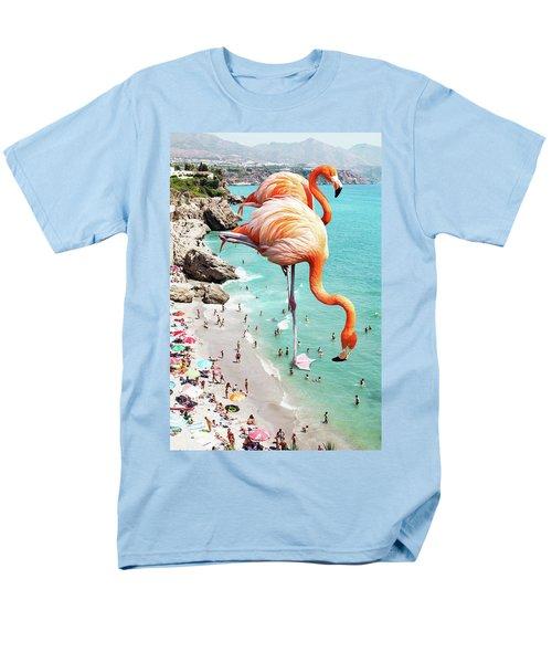 Flamingos On The Beach Men's T-Shirt  (Regular Fit) by Uma Gokhale