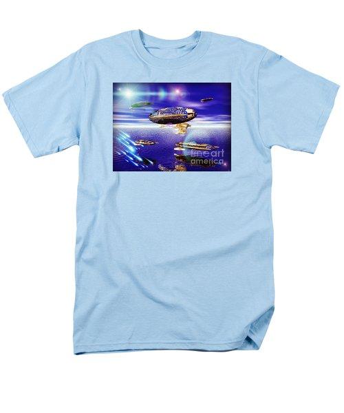 Men's T-Shirt  (Regular Fit) featuring the digital art Fleet Tropical by Jacqueline Lloyd