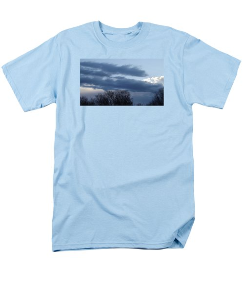 Men's T-Shirt  (Regular Fit) featuring the photograph Floating Blue Clouds by Don Koester