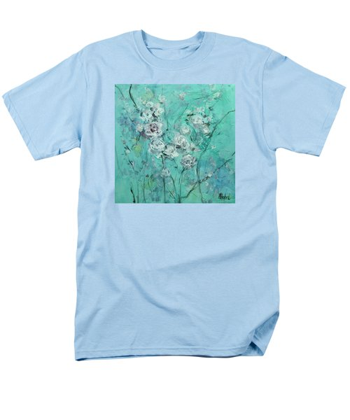 Floating Roses Painting Men's T-Shirt  (Regular Fit) by Chris Hobel