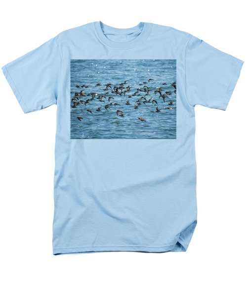 Men's T-Shirt  (Regular Fit) featuring the photograph Flock Of Birds by Trace Kittrell