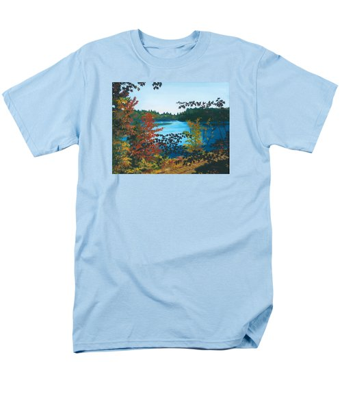 Men's T-Shirt  (Regular Fit) featuring the painting Floodwood by Lynne Reichhart