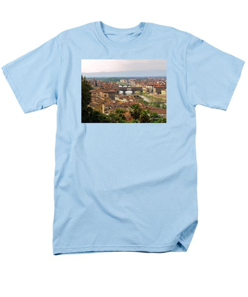 Men's T-Shirt  (Regular Fit) featuring the photograph Florence Bridges by Haleh Mahbod